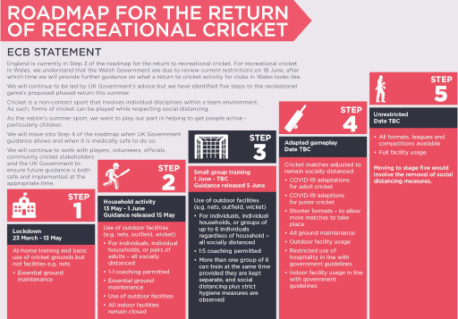 Recreational Roadmap - ECB Statement